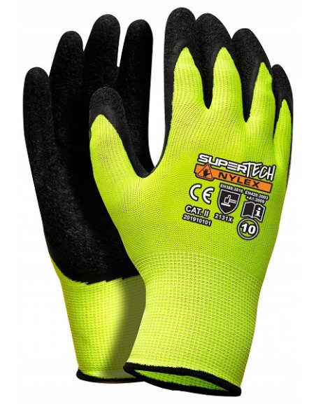 Rękawice rękawiczki robocze manualne LATEKS XL