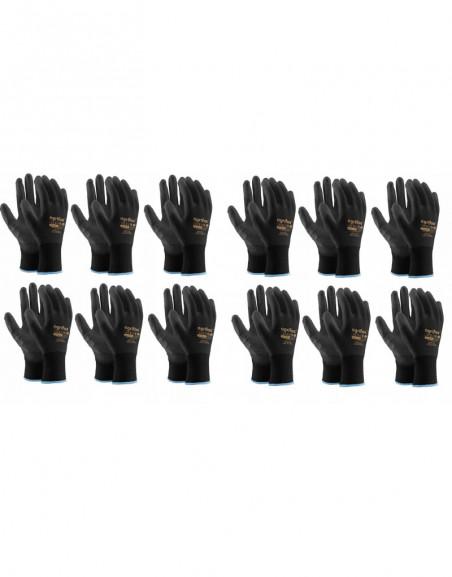 ZESTAW Uniwersalne rękawice ochronne robocze 12par