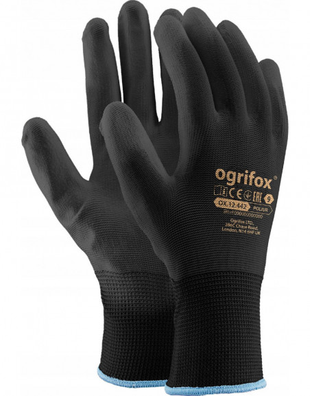 Uniwersalne rękawice ochronne robocze POLIESTER